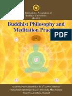 IABU 2012, Buddhist Philosophy and Meditation Practice