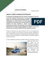 Comunicado de imprensa   Novo Renault Scénic