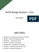 IGCSE Biology Revision