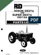 dexta electrical wiring diagram parts list fordson dexta 57 64
