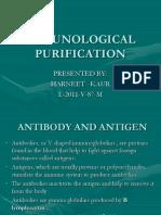 Immunological Purification