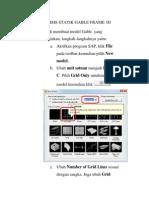 Analisis Statik Gable Frame 3d