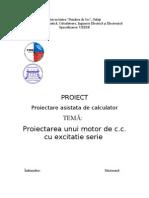 Proiectarea Unui Motor de c.c Cu Excitatie Serie