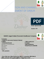 Distribution of Dabur (DM)