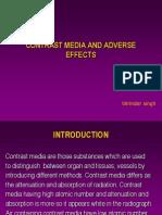Contrast Media and Adverse Effects - Vijay Kumar