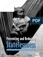 Preventing and Reducing Statelessness