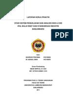 Studi Sistem Pengolahan Dan Analisis Bod & Cod Ipal Balai Riset Dan Standarisasi Industri Banjarbaru (Nugroho Pratama & m.sadiqul Iman)