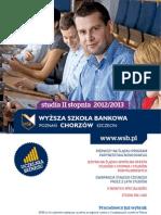 Informator 2012 - Studia II stopnia - Wyższa Szkoła Bankowa w Chorzowie