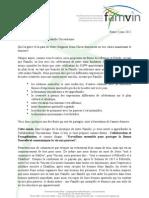 COLLABORATION ET EVANGÉLISATION - Lettre à la Famille Vincentienne pour 2012