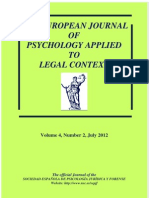 The European Journal of Psychology Applied to Legal Context 2012