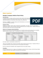 780 Sample Co Vehicle Policy
