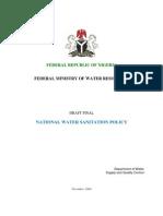 National Water Sanitation Policy-Final Draft