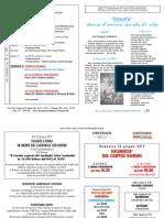 Foglietto domenicale n 23 del 03 giugno 2012 Parrocchia di S.Andrea Castions di Zoppola