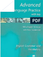 Advanced Language Practice English Grammar and Vocabulary Michael Vince