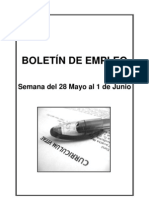 Boletin de Empleo Semana Del 28 Mayo Al 1 Junio