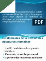 La Gestion Des Ressources Humaines (GRH) [Enregistrement que