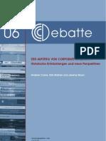 CCCDebatte06 Der Aufstieg Von Corporate Citizenship 2010