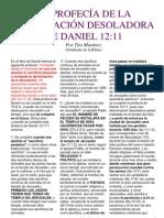 LA PROFECÍA DE LA ABOMINACIÓN DESOLADORA DE DANIEL