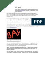 Dram Shop Liability Laws