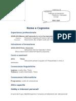 Curriculum Vitae Modello Blu
