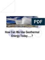 How Can We Use Geothermal Energy Today