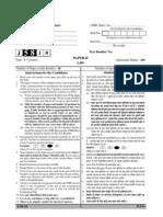 UGC NET Law Paper II Question Paper June 2010