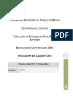PROG-TEMAS SELECTOS DE BIOLOGÍA Junio 2006 (DEFINITIVO)