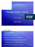 Process Design Training Pipe Sizing
