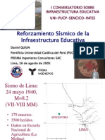 Reforzamiento Sismico de Locales Escolares