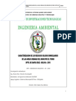 Caracterizacion de Los Residuos Solidos Domiciliarios de Las Areas Urbanas Torno 2010