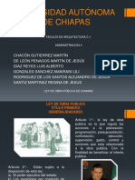 Ley de Obra Publica de Chiapas. Admin is Trac Ion