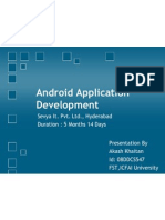 Android Application (Presentation)