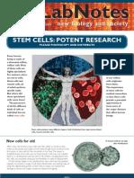 Lab Notes Stem Cells