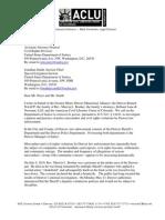 ACLU Colo Letter to DOJ