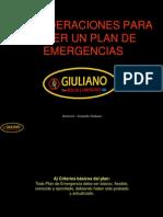 Consideraciones Para Hacer Un Plan de Emergencias