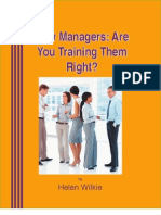 Training New Managers Right