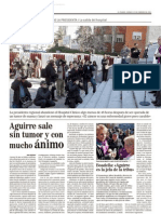 Aguirre sale sin tumor y con mucho ánimo (25-feb-11)