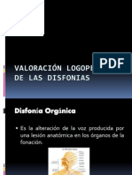 VALORACIÓN LOGOPÉDICA DE LAS DISFONIAS