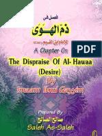 A Chapter on the Dispraise of Al Hawaa Lowly Desire Ibnu Qoyyim Al Jauziyah 243