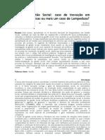 GESTÃO SOCIAL -  CASOS DE INOVAÇÃO EM POLÍTICAS PÚBLICAS OU MAIS UM CASO DE LAMPEDUSA