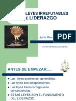 Presentacion Las 21 Leyes Irrefutables de Liderazgo
