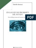 Isabella Mattazzi-L'IngannevoLe prossimità del mondo. Forme della percezione nel romanzo moderno-Intro e Cap. 1