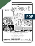 [37-0315] Dungeon Fantasy 10 - Taverns