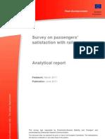 2011 06 Survey Passengers Satisfaction With Rail Services