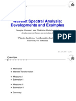 Maraun Wavelet Spectral Analysis Developments and Examples
