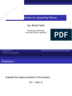 7 - Exercises on Queueing Theory