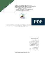 Educacion en Venezuela(Privada Publica Bolivariana)