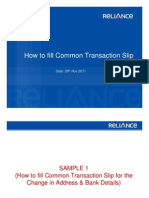 Common Transaction Slip Compatibility Mode 1