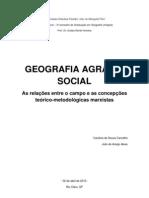 A Geografia agrária social - ALVES & CARVALHO (2012)