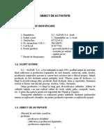 Analiza Financiara a Firmei SC Alfar SA - Arad